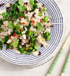 coconut rice with kale & edamame