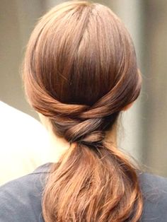 Fishtail ponytail - simple, easy, unique, half fishtail braid, in to ponytail