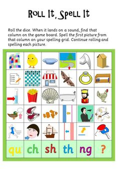 Phase 3 Roll It, Spell It More- use big maths dice Primary Teaching, Teaching Phonics, Phonics Activities, Teaching Resources, Phase 3 Sounds, Phase 5 Phonics, Phonics Display, Portuguese Lessons, English Phonics