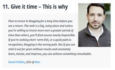 Blog advice from the experts: Rand Fishkin