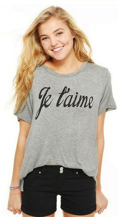 Relaxed but always cute! #fashion #jetaime #clothes #summer #style #Summerstyle #girl #ootd #tshirt #black #swag