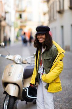 Milan, Viviana Volpicella The #PEUTEREYXVESPA capsule collection goes #streetstyle with photographer Nabile Quenun from Jaieperdumaveste.