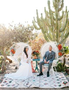 Photo by Mr and Mrs Wedding Duo. Desert Wedding Inspiration at Old Cactus Garden in Balboa Park, San Diego. Cactus Wedding, Garden Wedding, Boho Wedding, Wedding Ceremony, Dream Wedding, Wedding Day, Wedding Desert, Wedding Lounge, Boho Bride