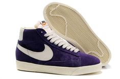 newest df395 076d1 Buy Mens Womens Nike Blazer High Vintage Suede Shoes Purple White Beige  from Reliable Mens Womens Nike Blazer High Vintage Suede Shoes Purple White  Beige ...