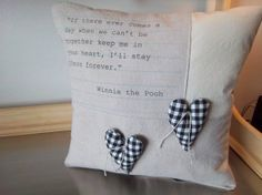 Winnie the Pooh pillow handmade cotton by SweetMeadowDesigns, $37.00