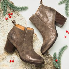 WARE in Smoke Suede. Shine bright for the holidays in our favorite minimalist silhouette!