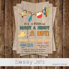 Itu0027s O FISH Al Baby Shower Invitation   Fishing Baby Shower Invite  Fish  Outdoor Fisherman