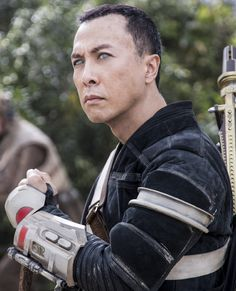Chirrut Îmwe was a blind human male, born on the moon Jedha, and a spiritual warrior-monk who was active during the days of the Galactic Empire. Alongside his friend and protector, Baze Malbus, he and other members of a volunteer group of Rebels died after stealing the plans of the first Death Star. Chirrut Îmwe was a blind human male, with pale blue eyes, black hair and tan skin. Îmwe was a strong believer of the Force and the Jedi way, carrying a simple staff and traditional lightbow...