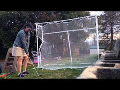 DIY GOLF NET - Homemade Indoor Outdoor Golf Net - YouTube