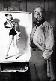 Earl Moran Pin-Up Artist proudly displays a picture of his favourite model, Marilyn Monroe, c. Earl Moran, Uñas Pin Up, Pin Up Art, Iowa, Vargas Girls, Spanish Girls, Popular Actresses, American Illustration, Famous Photos