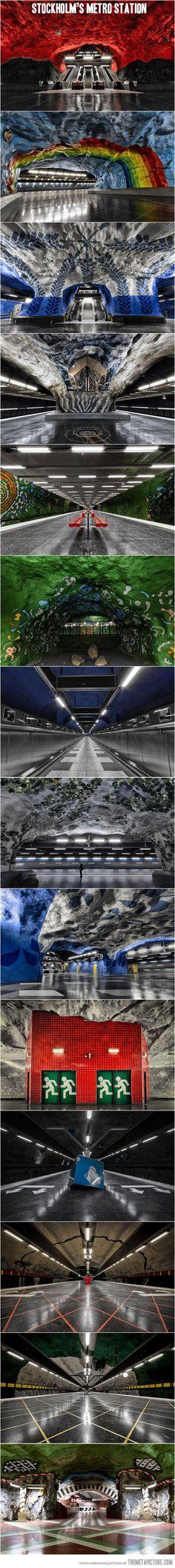 Stunning underground art…