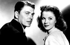 """Shirley with Ronald Reagan in the movie """"That Hagen Girl"""" in 1947"""