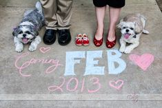 Super cute baby announcement idea