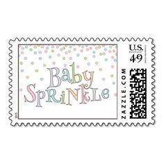 Little Baby Sprinkle Confetti Shower Postage