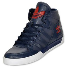 The adidas Originals Hard Court Hi Men's Casual Shoes give a generous nod to the adidas basketball heritage. The classic high silhouette helps protect your ankle whether you're on or off the court. The shoes feature a premium leather upper for durability and a rubber sole for traction that's always needed.