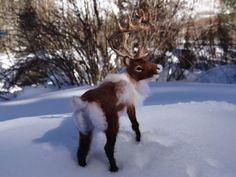 Rendieren, kariboes naald vilten wol dier gemaakt door Carol Rossi alleen voor jou!