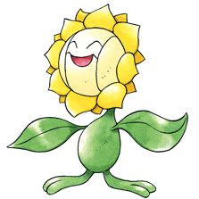 #sunflora from the official artwork set for #Pokemon Gold and Silver for #GameBoy Color. http://www.pokemondungeon.com/pokemon-gold-and-silver-versions