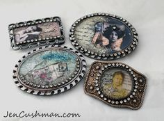 Jen Cushman Resin Belt Buckles