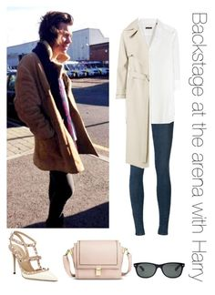 """Backstage at the arena with Harry"" by thetrendpear-eleanor ❤ liked on Polyvore featuring J Brand, Robert Friedman, Valentino, Mossimo, Ray-Ban and By Malene Birger"