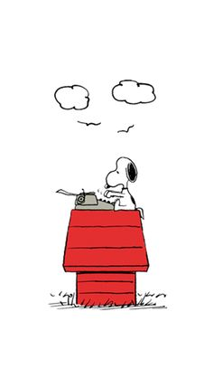 Snoopy, still writing that 'Great American Novel'. Snoopy Love, Charlie Brown And Snoopy, Snoopy And Woodstock, Peanuts Cartoon, Peanuts Snoopy, Cute Disney Wallpaper, Cool Wallpaper, Best Iphone Wallpapers, Cute Wallpapers