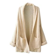 Rolling Cuffs Cardigan (1.235 UYU) ❤ liked on Polyvore featuring tops, cardigans, sweaters, jackets, outerwear, brown cardi, cardigan top, brown top and brown cardigan