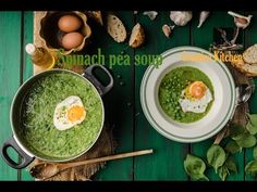 Spinach peas soup, green peas soup recipe - how to cook soup simple way! New recipe 2017 no cream soup recipe! Creative kitchen food channel, healthy and fas. Green Pea Soup, Green Peas, Cream Soup Recipes, New Recipes, Spinach, Channel, Cooking, Healthy, Breakfast