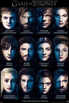 Game of Thrones: Cast of Characters Fine Art Print Poster
