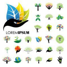 collection de logos de la nature Vecteur gratuit