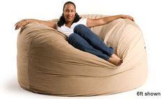 6 Ft Giant Foam Bean Bag Chair Like a Lovesack (Round Not Oblong) by Relax Sacks, http://www.amazon.com/dp/B001E0QU36/ref=cm_sw_r_pi_dp_XpWxrb1SFPK0H