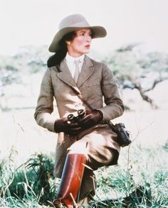 Birder style that still looks good today: Streep in Out of Africa
