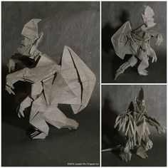 Study: #Axehead from #PacificRim. Finally saw the movie and my son asked me to make some of the #kaiju. by Joseph Wu Origami