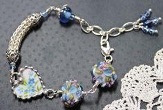 Bracelet Broken China Jewelry Viking Knit by Robinsnestcreation1