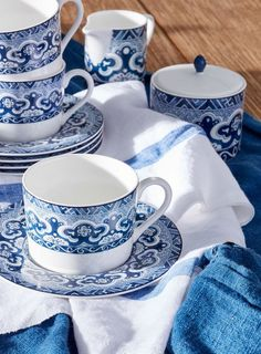 Tea time with Ralph Lauren Home's Empress china collection, inspired by vintage porcelain