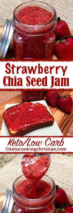 Strawberry Chia Seed Jam Keto and Low Carb Düşük karbonhidrat yemekleri Keto Foods, Keto Diet Drinks, Keto Diet List, Starting Keto Diet, Ketogenic Diet, Pcos Diet, Diabetes Diet, Low Carb Keto, Low Carb Recipes