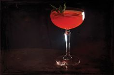 A #cocktail inspired by Santa Monica's own #farmersmarket - Copa d' Oro's The Campanula Sour.