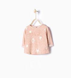 Afbeelding 1 van Shirt met reliëfprint van Zara