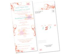 Custom designed Seal-&-Send wedding invitation · MDesign 218.512.0221