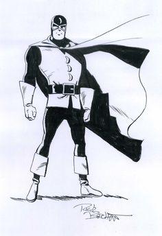 Dr. Mid-Nite by Rick Burchett Comic Art