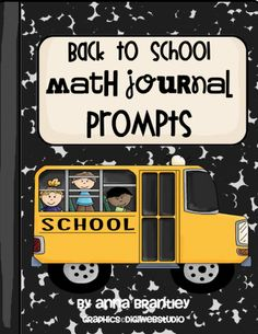 Math Journal Prompt Ideas (for sale in TPT store). Also, first grade blog.