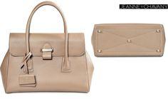 """Miss Jade"" #handbag front & bottom sewing details Taurillon Matte Taupe #Gold hardware, Made in France #fashion #luxury #bagstalking"
