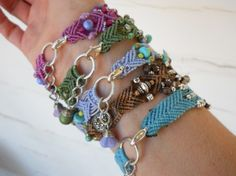micro macrame bracelet patterns - Google Search