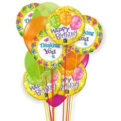 Happy Birthday thoughts of cheer balloons from 1-800-Balloons.com