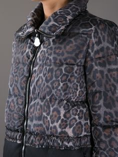 MONCLER - leopard print padded jacket: perfect #moncler #leopard print #animalprint #monclerjacket #paddedjackets #women