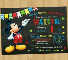 Mickey Mouse Invitation Maker New Mickey Mouse Birthday Invitation Mickey Mouse Clubhouse Fiesta Mickey Mouse, Mickey Mouse Photos, Mickey Mouse Baby Shower, Minnie Mouse, Personalized Birthday Invitations, Photo Birthday Invitations, Birthday Invitation Templates, Invitation Maker, Invitation Wording
