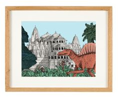 'Ancient Temple' - limited Edition of 50 - A3 giclee print (unframed) - anniedavidson.bigcartel.com