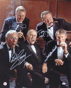Bob Cousy-Larry Bird-John Havlicek-Tommy Heinsohn Boardroom Autographed 16x20 Photo!  $499.00