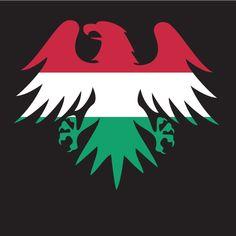 Hungarian flag heraldic eagle