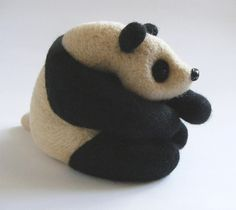 Needle felted panda guy!