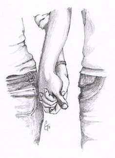 Images > Pencil Sketches Of Couples Holding Hands More