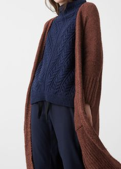 pocket long cardigan | MANGO